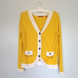 RED yellow cardigan size M